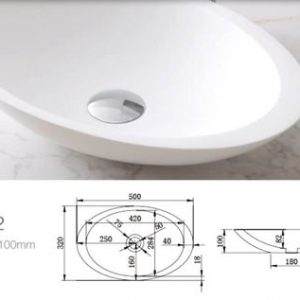 AV 606012 Round Solid Surface Basin