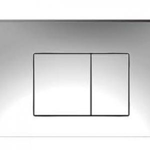 ZFP1001 Square Push Button-Chrome