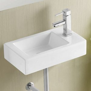 Wall Mounted Basin-Right Taphole