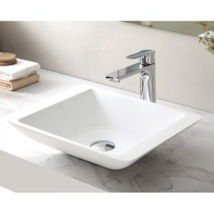 VA 434311 Square Solid Surface Basin