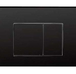 ZFP1002 Square Push Button-Black