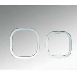 ZFP2001 Square Push Button-Chrome
