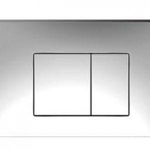 ZFP1001 Square Push Button-Chrome