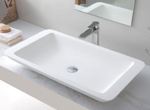 VA 603590 Rectangle Solid Surface Basin