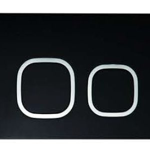 ZFP2002 Square Push Button- Black