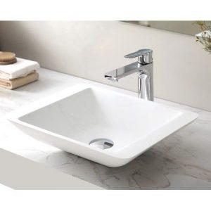 VA 434311 Square Solid Surface Basin