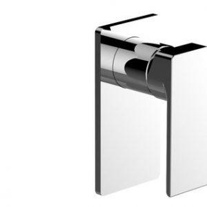 Shower Mixer - Rectangle Black Plate